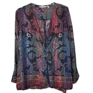 Soft Surroundings Boho Muted Colors Cardigan